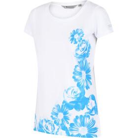 Regatta Breezed Camiseta Mujer, blanco/azul
